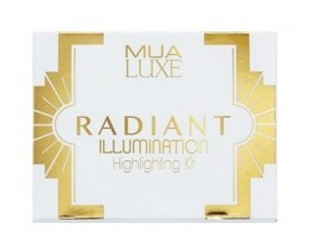 MUA Luxe Radiant Illumination Highlighting Kit Paleta Rozświetlaczy #1