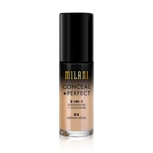 Milani CONCEAL + PERFECT 2-IN-1 FOUNDATION + CONCEALER Podkład kryjący 04 Medium Beige