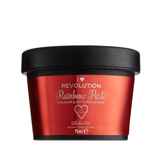 I Heart Revolution Rainbow Paste Koloryzująca pasta do włosów Red Flame 75ml