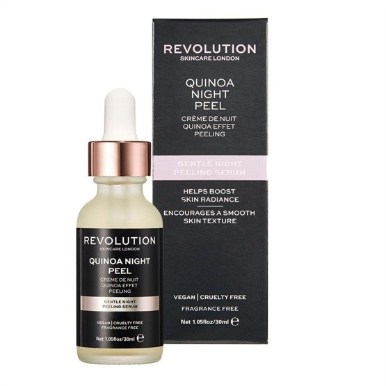 Makeup Revolution SKINCARE Gentle Night Peeling Serum - Quinoa Night Peel Serum peelingujące na noc 30ml