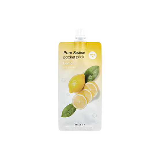 Missha Pure Source POCKET PACK Maseczka do twarzy na noc LEMON