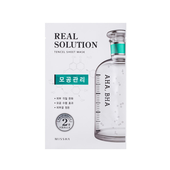 Missha Real Solution Tencel Sheet Mask AHA, BHA - Pore Control Maseczka do twarzy w płacie