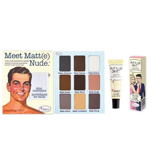 theBalm Meet Matt(e) Nude paleta 9 cieni + baza pod cienie Put A Lid On It GRATIS